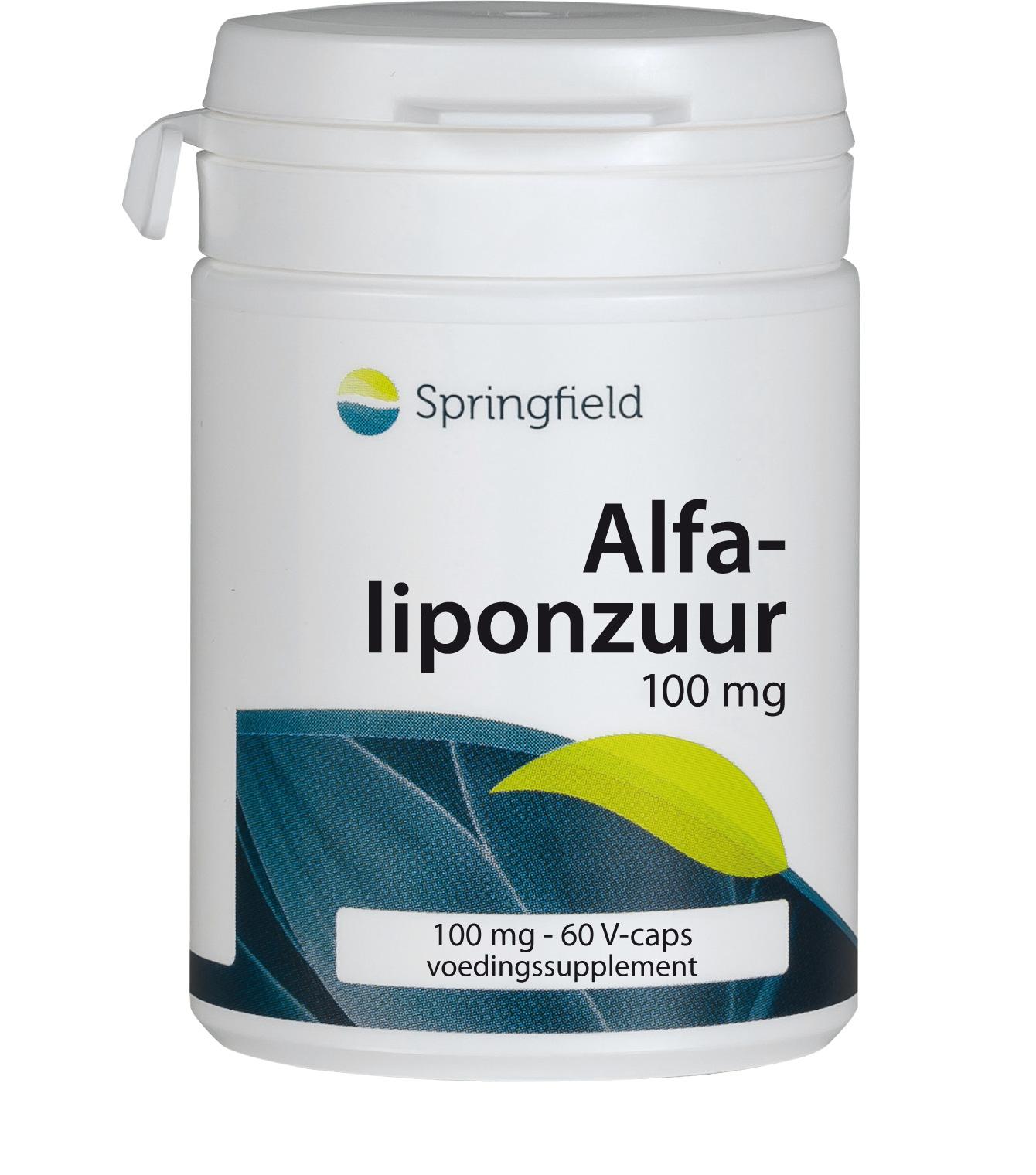 Alfa-liponzuur (ALA) 100 mg 60 V-capsules