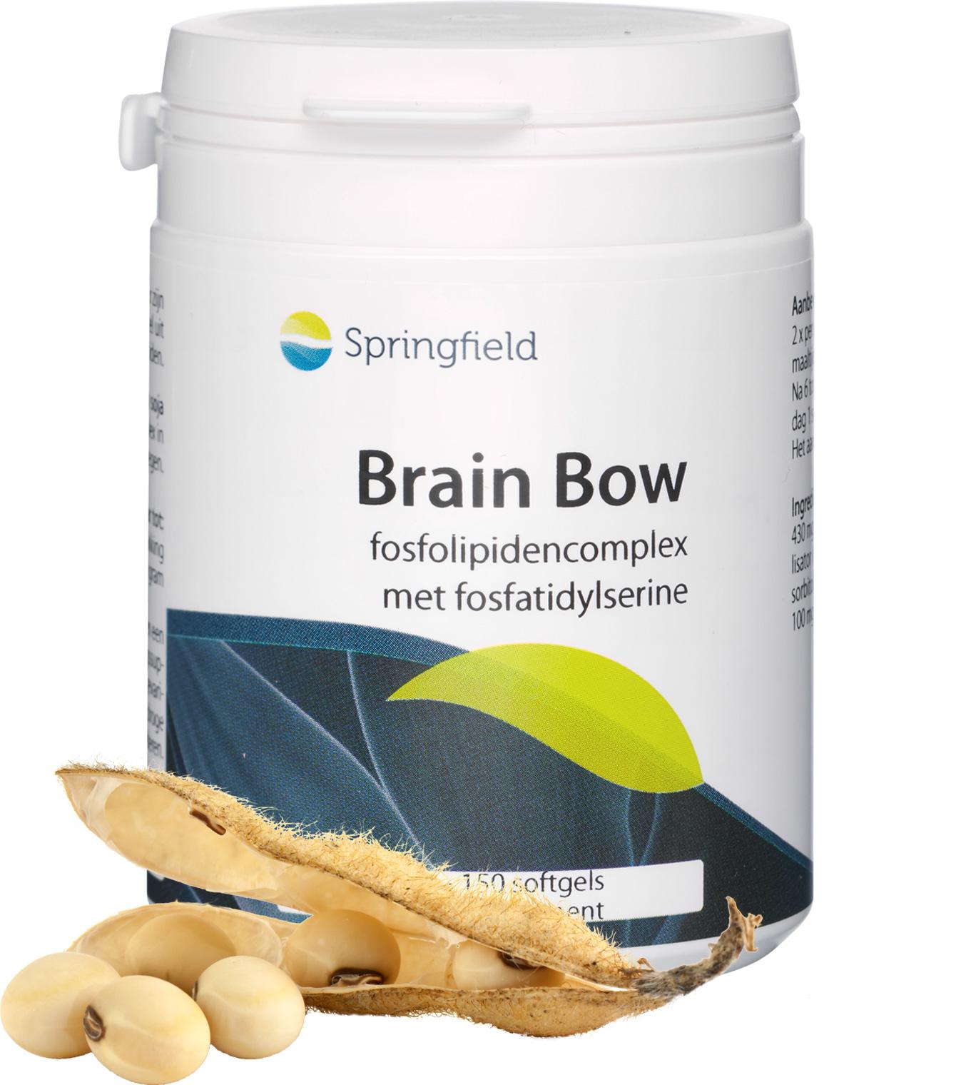 Brain Bow fosfatidylserine, fosfatidezuur en andere fosfolipiden 150 softgels