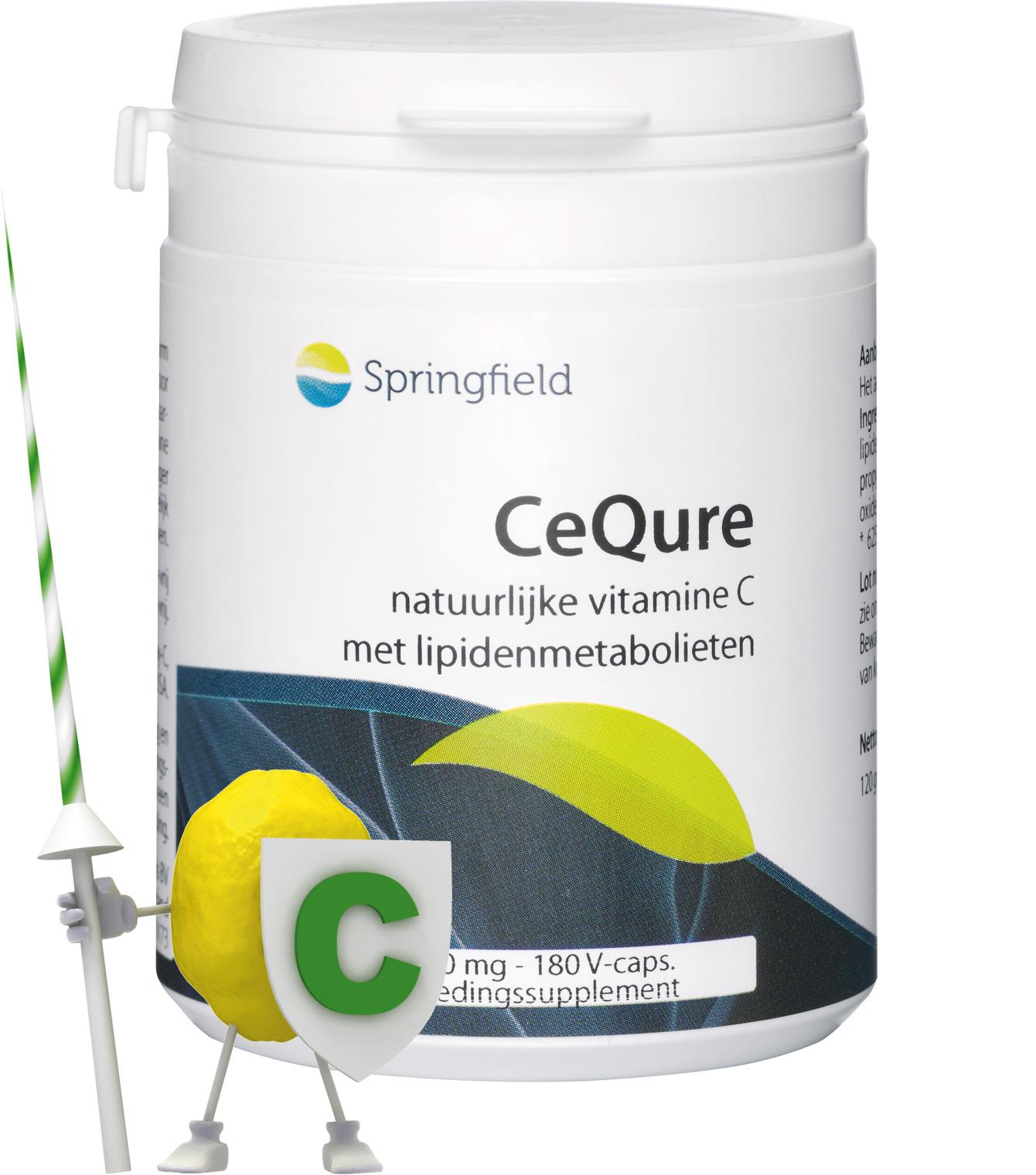 CeQure natuurlijke vitamine C met lipidenmetabolieten 180 v-capsules