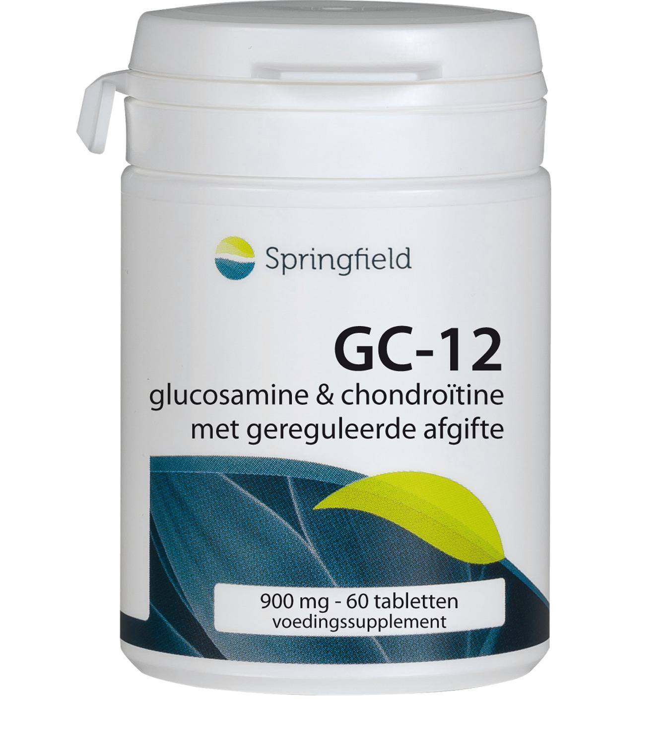 GC-12 Glucosamine en chondroïtine met geleidelijke afgifte