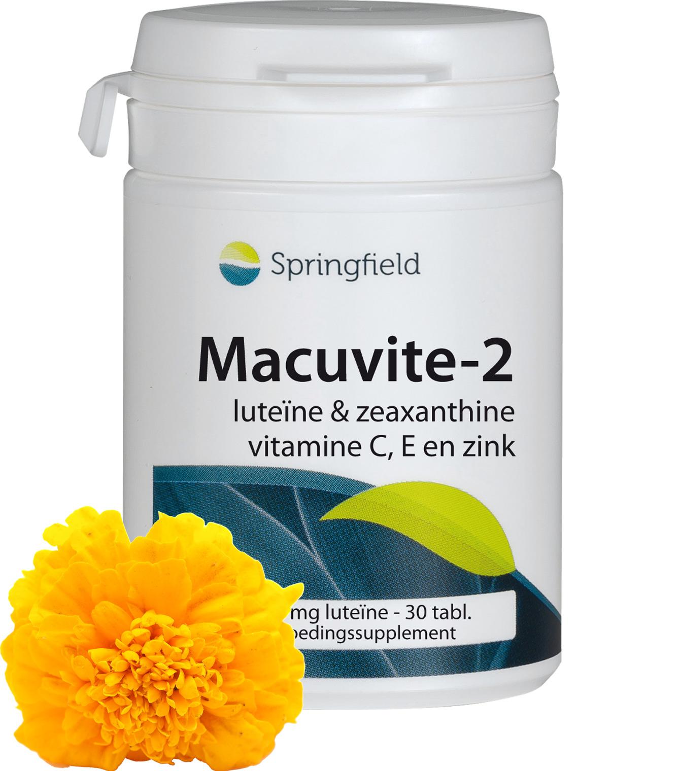 Macuvite-2 luteïne, zeaxanthine met vitamine C & E en zink