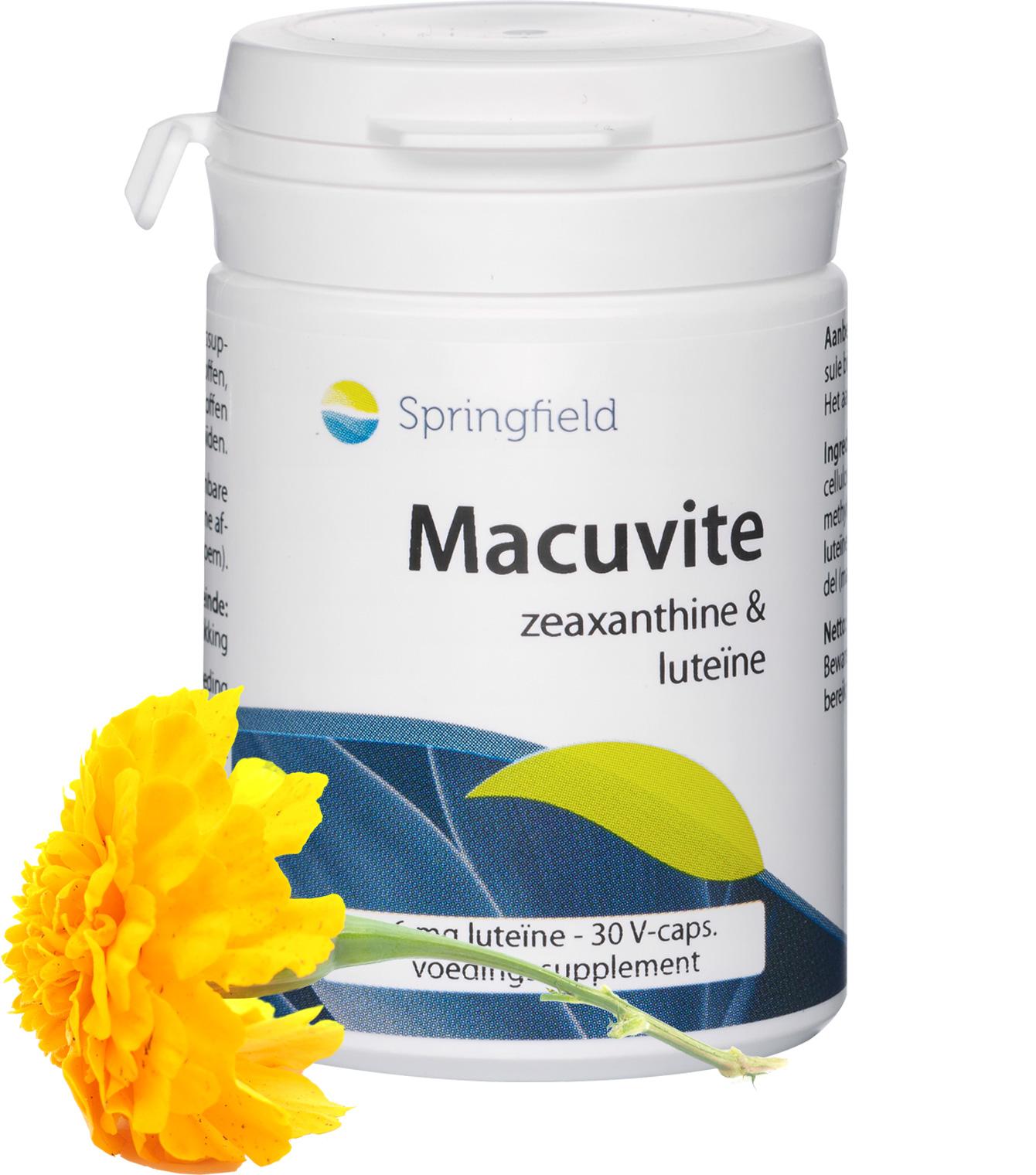 Macuvite zeaxanthine enluteïne