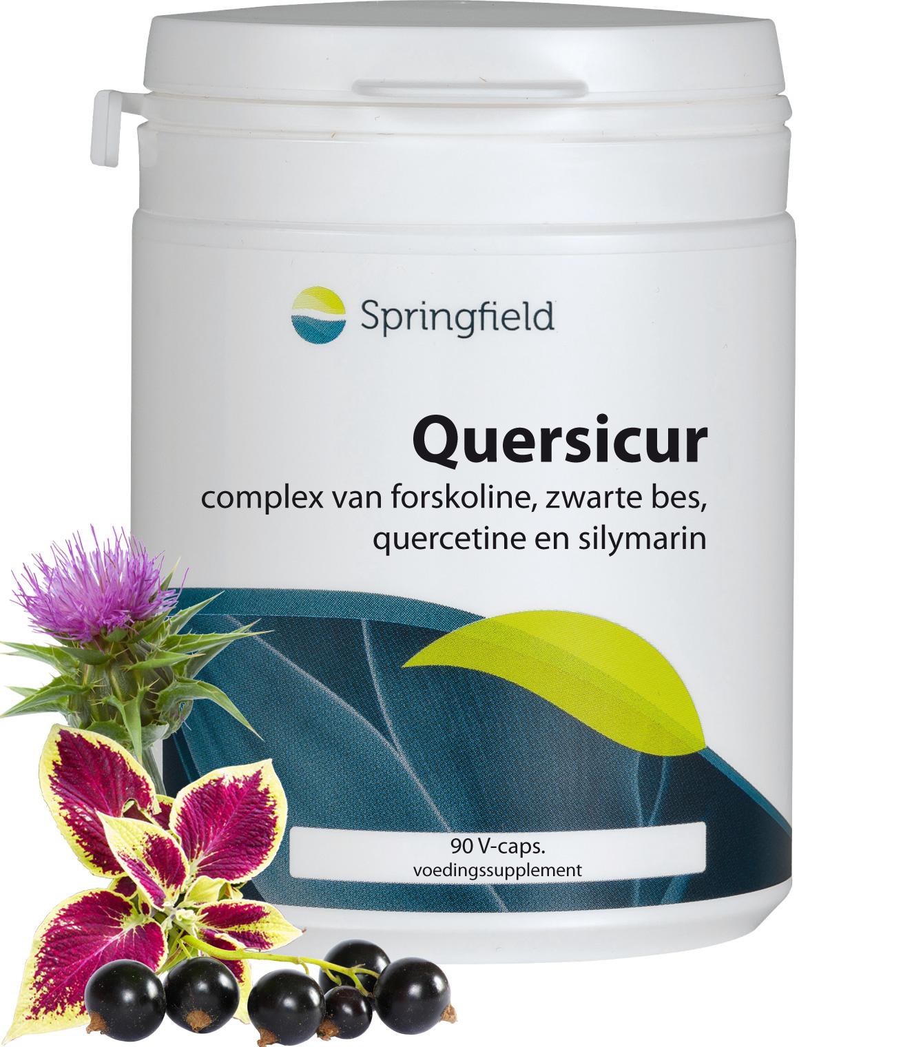 Quersicure met forskoline, zwarte bes, quercetine, silymarin