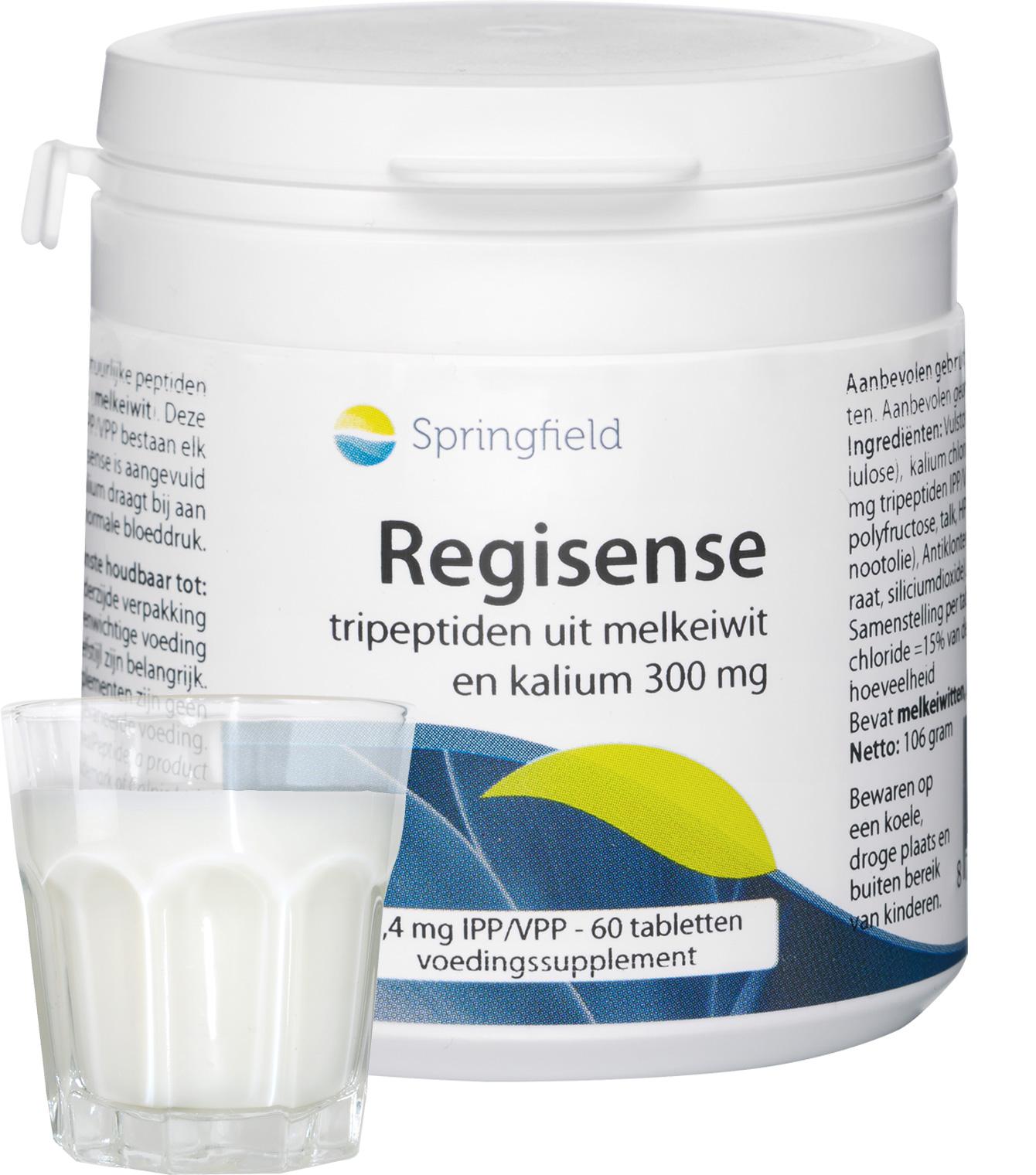 Regisense - Tripeptiden IPP/VPP 3,4 mg uit melkeiwit en 300 mg kalium