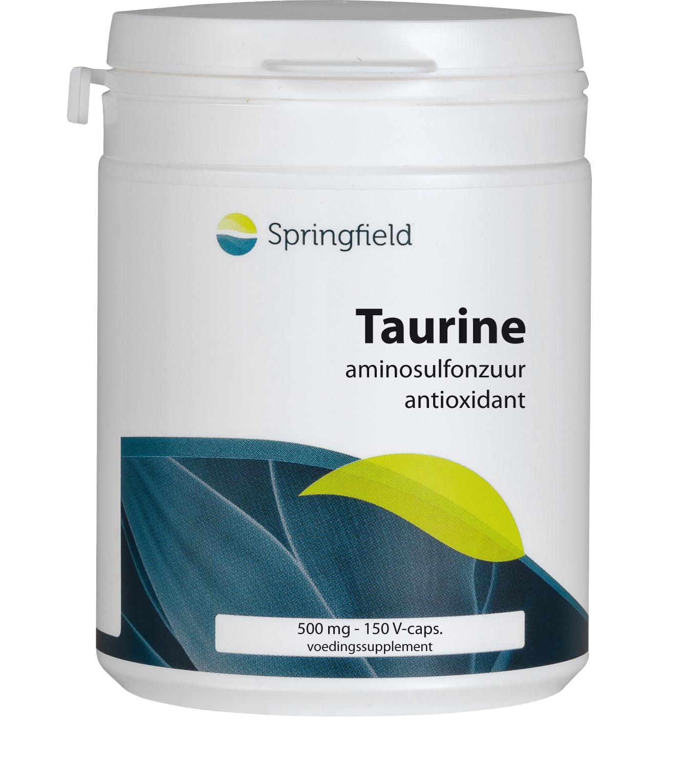 Taurine gesynthetiseerd uit cysteïne en methionine