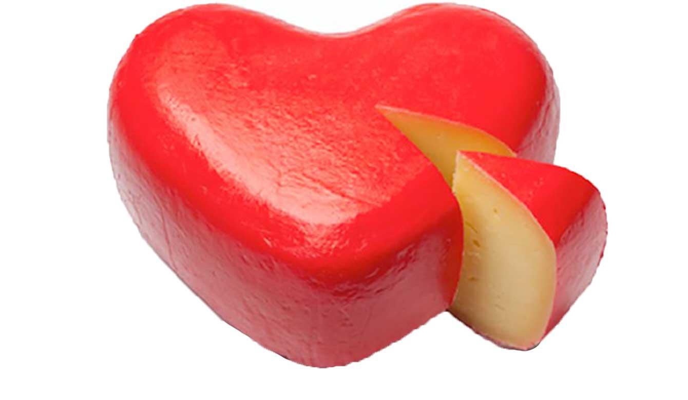Rijk aan Vitamine K2 - kaas in hartvorm