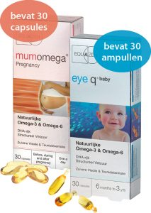 Eye Q baby met 30 ampullen + MumOmega met 30 softgel capsules