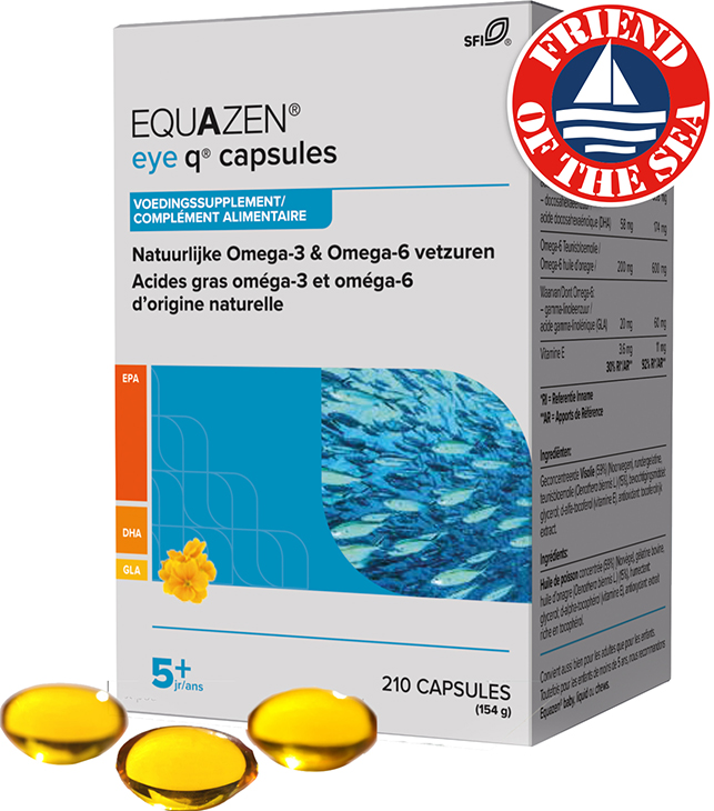 Equazen 9.3.1 Capsules - omega 3- en 6-vetzuren EPA, DHA, GLA - Friend of the Sea