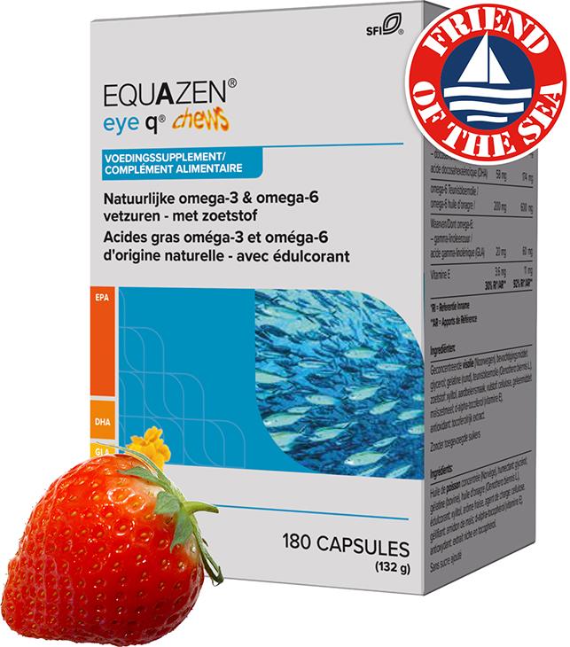 Equazen 9.3.1 Chews kauwcapsules met aardbeiensmaak - omega 3- en 6-vetzuren