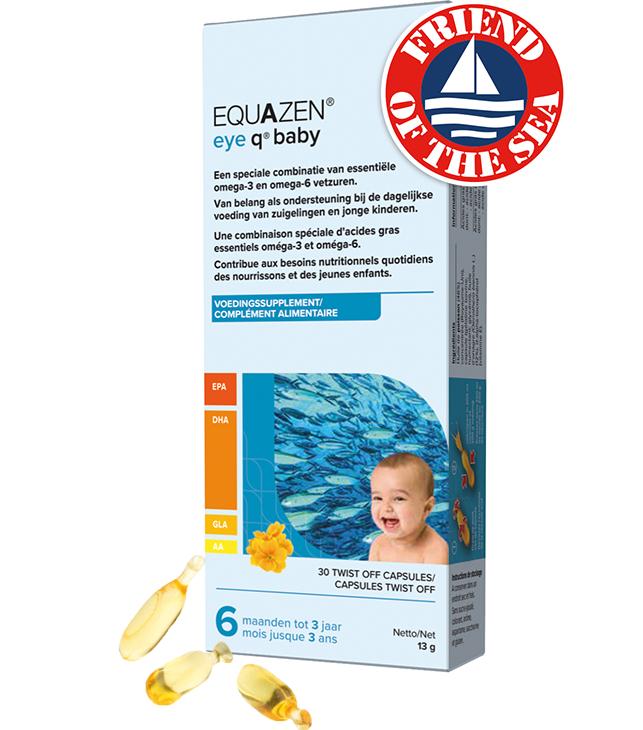 Equazen Baby - Zuivere DHA-rijke visolie - goed voor de hersenen - Friend of the Sea