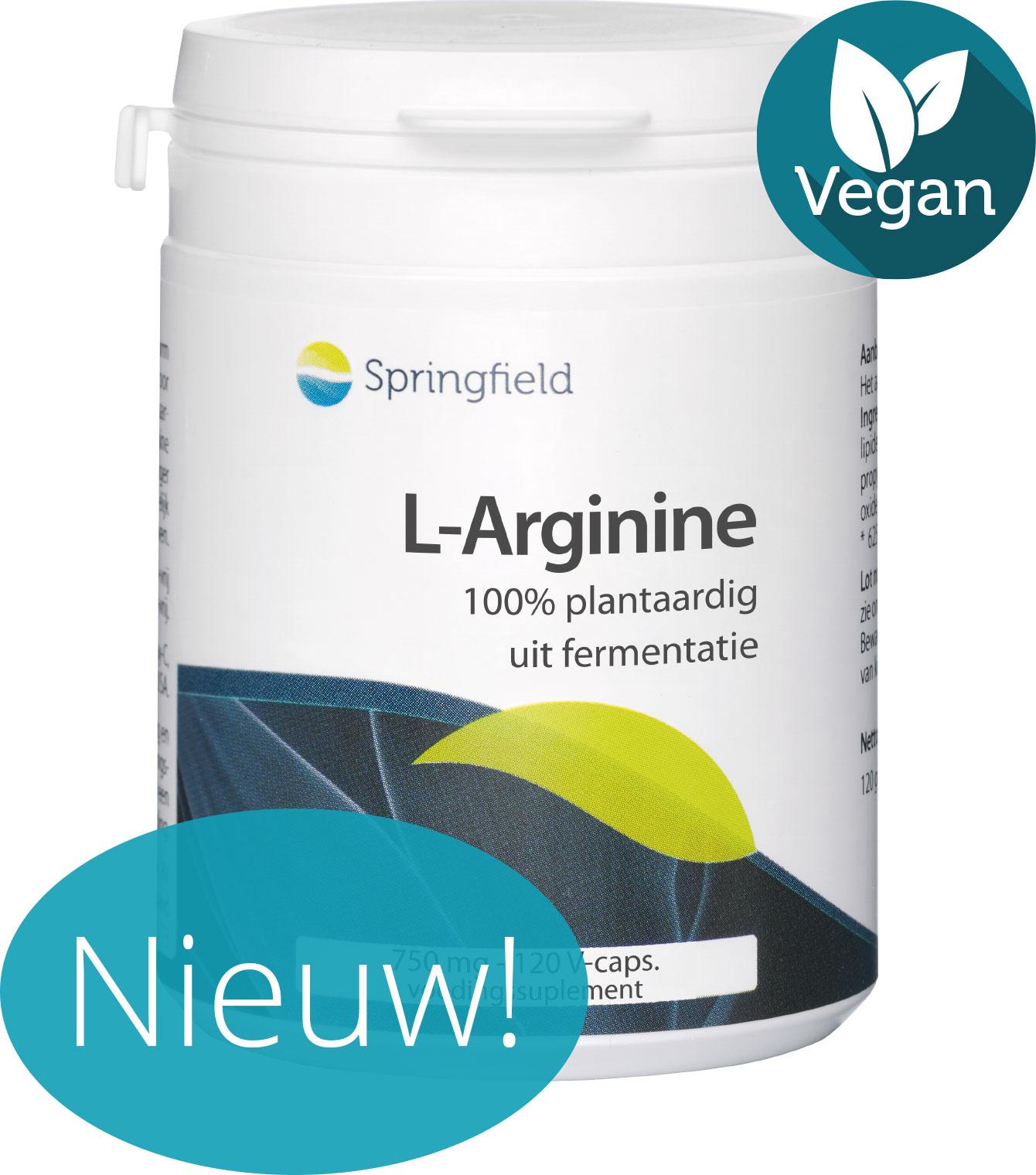 L-Arginine - 750 mg uit fermentatie - 100% plantaardig - vegan + nieuw