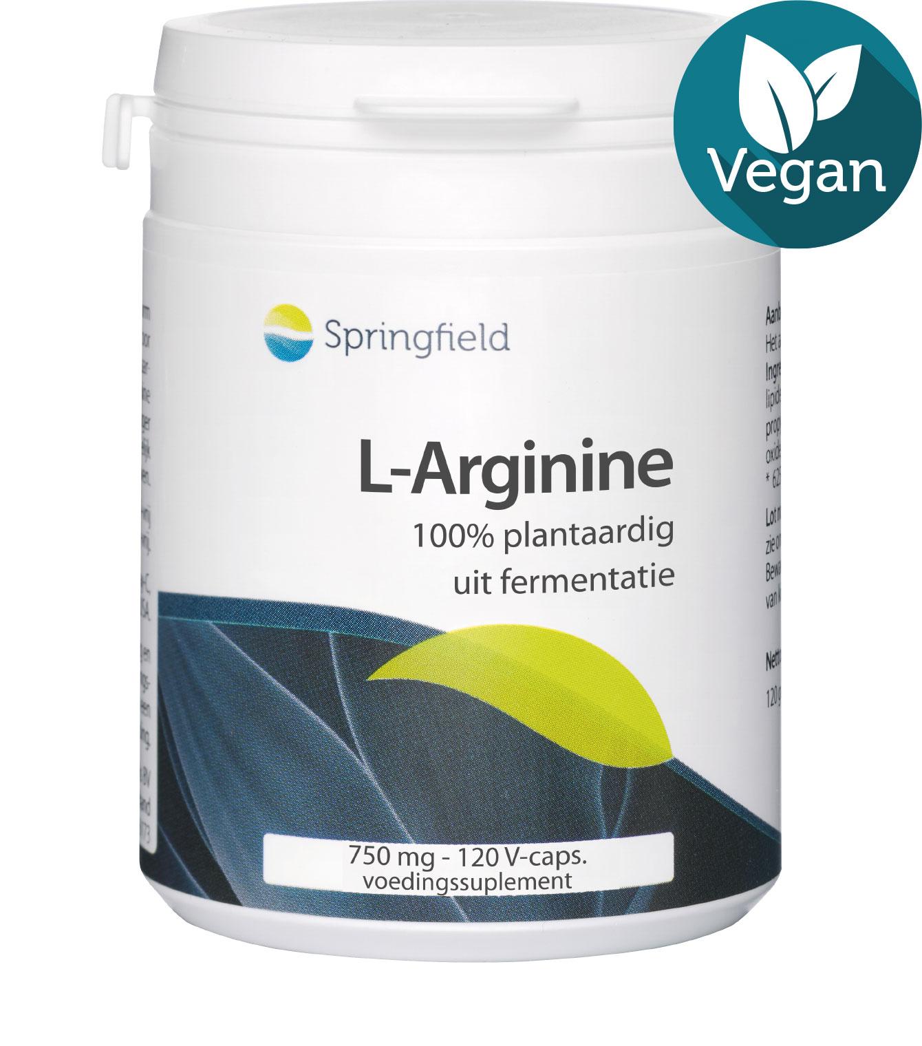 L-Arginine - 750 mg uit fermentatie - 100% plantaardig - vegan