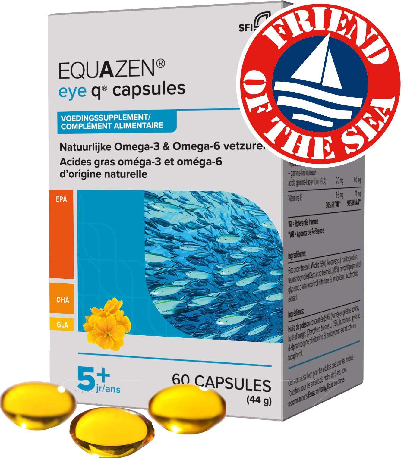 Equazen 9.3.1 Capsules 60 - omega 3- en 6-vetzuren EPA, DHA, GLA - Friend of the Sea