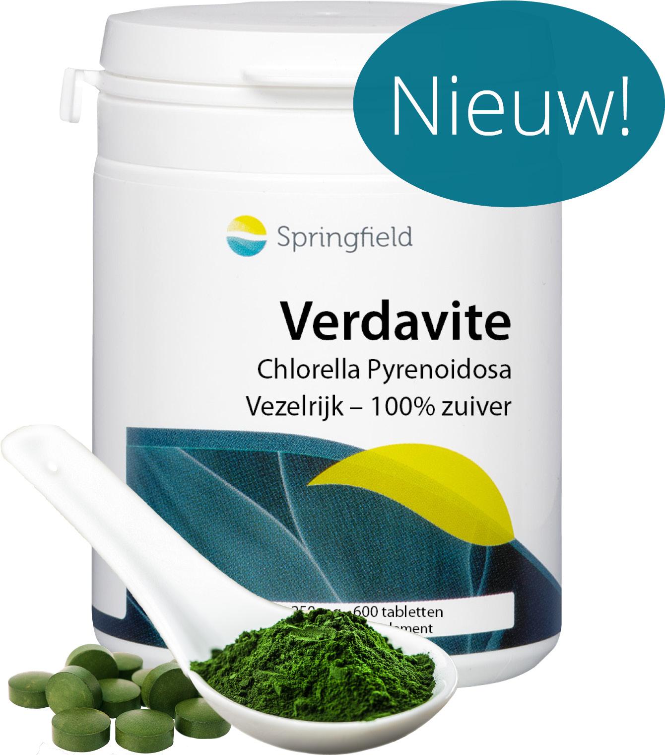 Verdavite - Chlorella Pyrenoidosa wholefood van algen - vezelrijk en 100% zuiver - nieuw RB