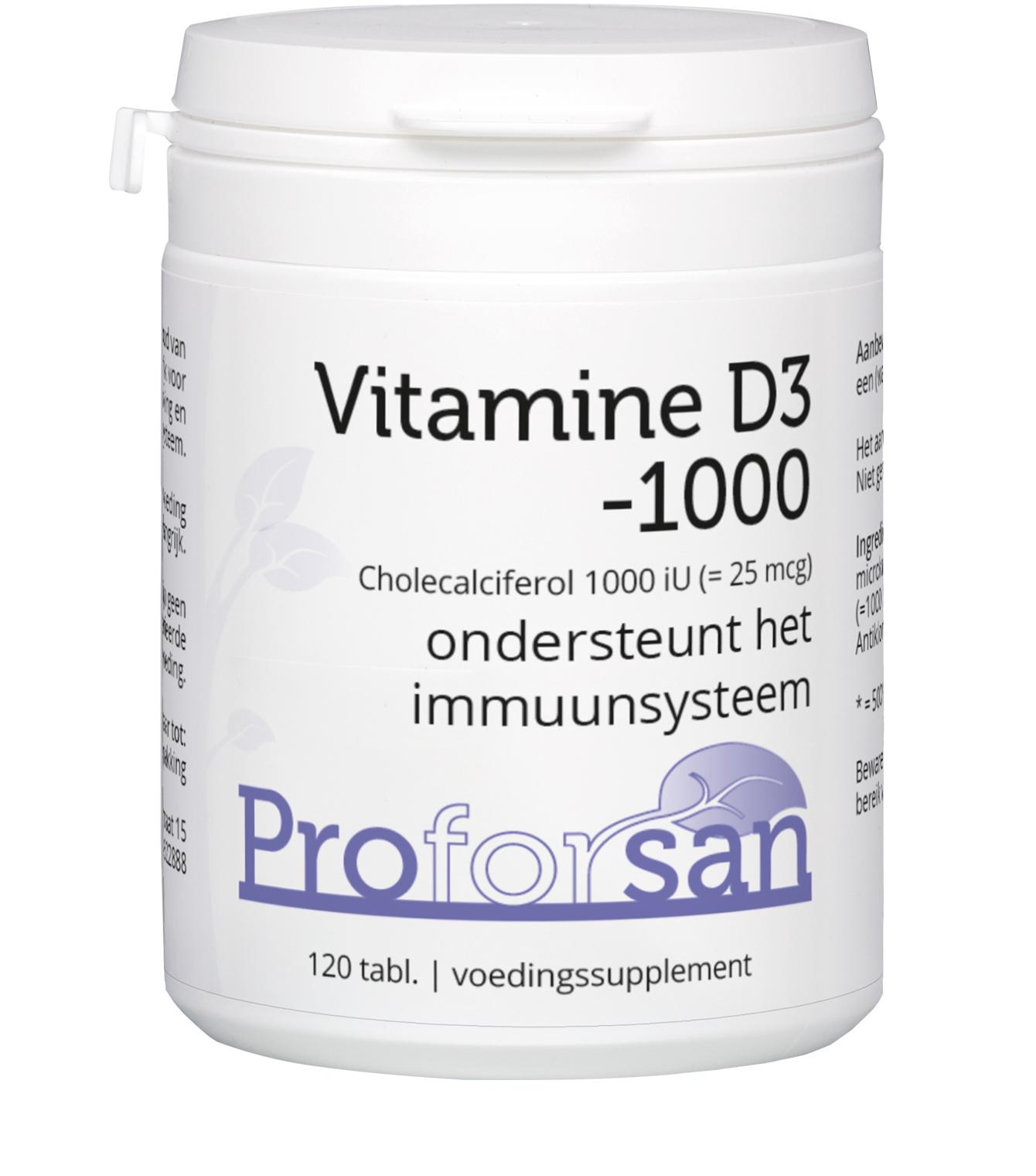 Proforsan Vitamine D3-1000 - 60 tabletten